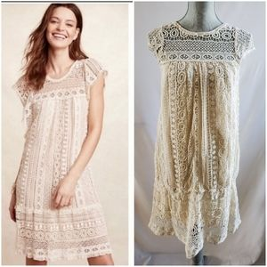 🆕 Anthropologie Maeve Cream Crochet Dress